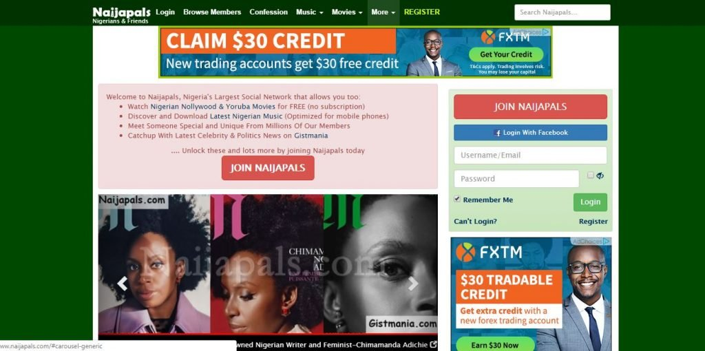 nigerian social network, Nigerian social networks