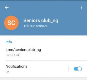 We Have The Seniors Club Telegram Link Right Here  Get It Now