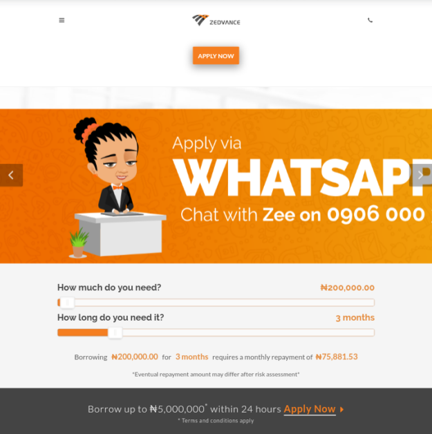 Zedadvance quick online loans in nigeria